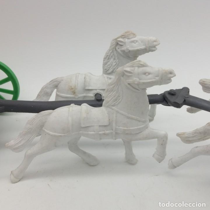 Figuras de Goma y PVC: Diligencia del oeste SOTORRES con caballos blancos - Foto 5 - 182433438