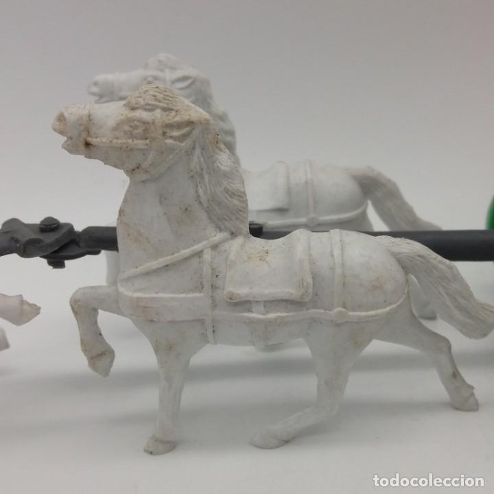 Figuras de Goma y PVC: Diligencia del oeste SOTORRES con caballos blancos - Foto 8 - 182433438