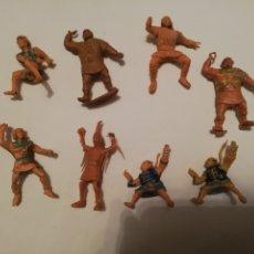 Figuras de Goma y PVC: 8 FIGURAS ESTEREOPLAST MAL ESTADO DEFECTUOSAS PLÁSTICO AÑOS 60. Lote 182504940