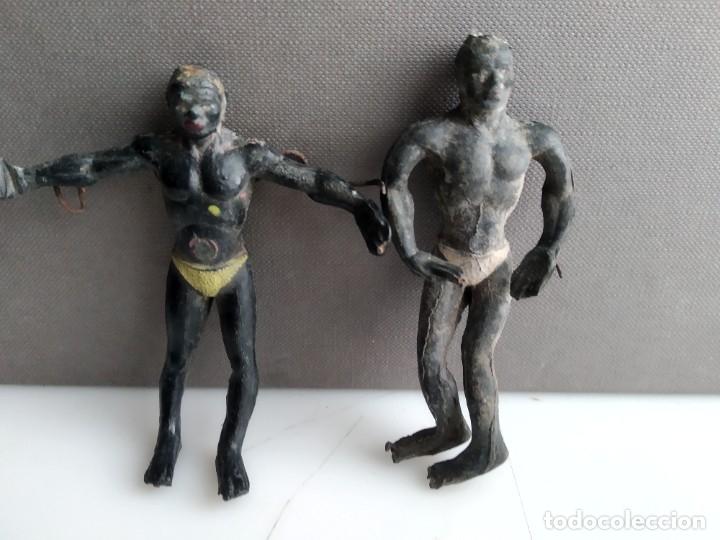ANTIGUAS FIGURITAS DE GOMA NEGROS ARCLA (Juguetes - Figuras de Goma y Pvc - Arcla)