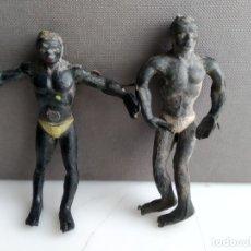 Figuras de Goma y PVC: ANTIGUAS FIGURITAS DE GOMA NEGROS ARCLA . Lote 182520811