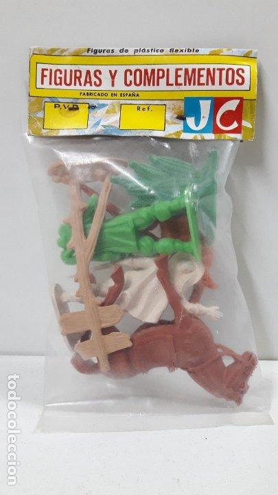 Figuras de Goma y PVC: MOSQUETEROS - REF 619 . REALIZADOS POR JECSAN . AÑOS 60 / 70 - Foto 2 - 182578512