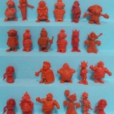 Figuras de Goma y PVC: FIGURAS DUNKIN - LOTE ASTERIX Y OBELIX - ROJO LOTE 3. Lote 154542950