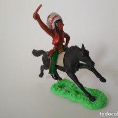 Figuras de Goma y PVC: FIGURA INDIO A CABALLO. Lote 182764572