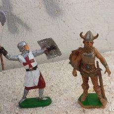 Figuras de Goma y PVC: GUERRERO MEDIAVAL Y VIKINGO. Lote 182766712