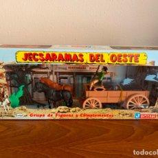 Figuras de Goma y PVC: JECSAN JECSARAMA DEL OESTE CARRETA. Lote 182781855