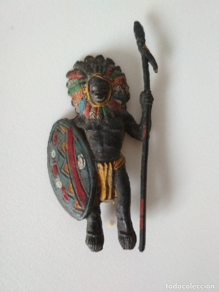 FIGURA GUERRERO AFRICANO PECH (Juguetes - Figuras de Goma y Pvc - Pech)