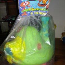 Figurines en Caoutchouc et PVC: CASITA DE LOS PITUFOS MUÑECOS INFANTILES EL VIKINGO. Lote 182939593
