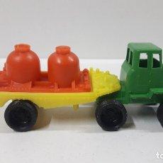 Figuras de Goma y PVC: CAMION TRAILER DEPOSITOS . MARCA VAM - ZARAGOZA . JUGUETE KIOSKO AÑOS 70. Lote 182983985