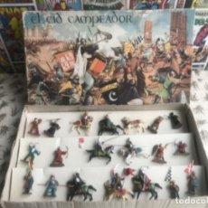 Figuras de Goma y PVC: CAJA EL CID CAMPEADOR REAMSA . Lote 183083193