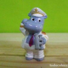 Figuras Kinder: FIGURA PVC KINDER SORPRESA DE LA COLECCIÓN HAPPY HIPPOS HOLIDAY - CAPITÁN. Lote 183198837