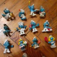 Figuras de Goma y PVC: LOTE 15 PITUFOS AÑOS 80. Lote 183315192