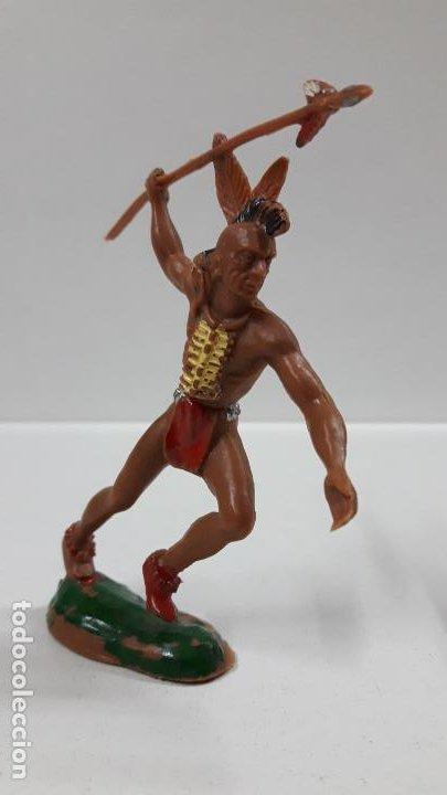 Figuras de Goma y PVC: GUERRERO INDIO . REALIZADO POR LAFREDO . AÑOS 60 . ALTURA 9,5 CM - Foto 2 - 183464818
