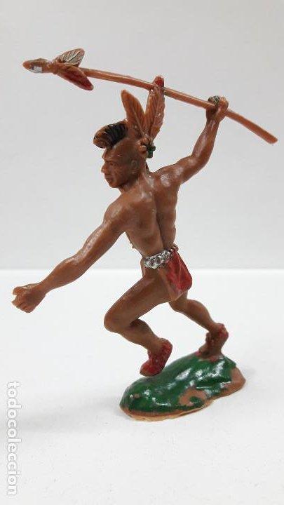 Figuras de Goma y PVC: GUERRERO INDIO . REALIZADO POR LAFREDO . AÑOS 60 . ALTURA 9,5 CM - Foto 3 - 183464818