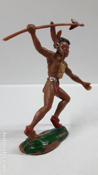 Figuras de Goma y PVC: GUERRERO INDIO . REALIZADO POR LAFREDO . AÑOS 60 . ALTURA 9,5 CM - Foto 4 - 183464818