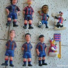 Figuras de Goma y PVC: LOTE DE MUÑECOS JUGADORES CLASICOS DEL BARÇA VER FOTOS. Lote 183486738