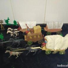 Figuras de Goma y PVC: CARAVANA DE CARRETAS FART WEST OESTE COMANSI. Lote 183501368