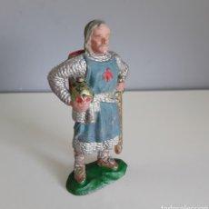 Figuras de Goma y PVC: RICARDO CORAZÓN DE LEÓN, MEDIEVALES DE REAMSA AÑOS 50, FIGURA DE GOMA NÚMERO 181. Lote 183529252