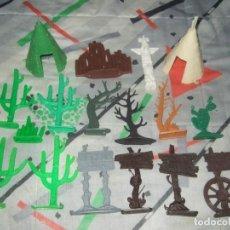Figuras de Goma y PVC: DECORADOS DE PLASTICO DE JINETES DEL OESTE COMANSI JECSAN REAMSA PECH. Lote 183532488