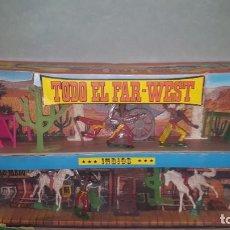 Figuras de Goma y PVC: CAJA COMANSI TODO EL FAR-WEST INDIOS Y COW-BOYS. Lote 183566896