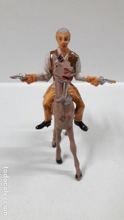Figuras de Goma y PVC: JOHN CANNON PARA CABALLO . EL GRAN CHAPARRAL . REALIZADA POR COMANSI . AÑOS 60 . CABALLO NO INCLUIDO - Foto 3 - 183603192