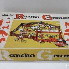 Figuras de Goma y PVC: CAJA Y FIGURAS - ALLA EN EL RANCHO GRANDE . REALIZADA POR REAMSA . ORIGINAL AÑOS 60 . SIN USO. Lote 183604332