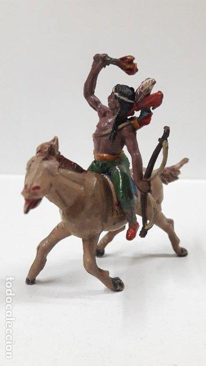 Figuras de Goma y PVC: GUERRERO INDIO PARA CABALLO . REALIZADO POR TEIXIDO . AÑOS 50 EN GOMA . CABALLO NO INCLUIDO - Foto 2 - 183696101