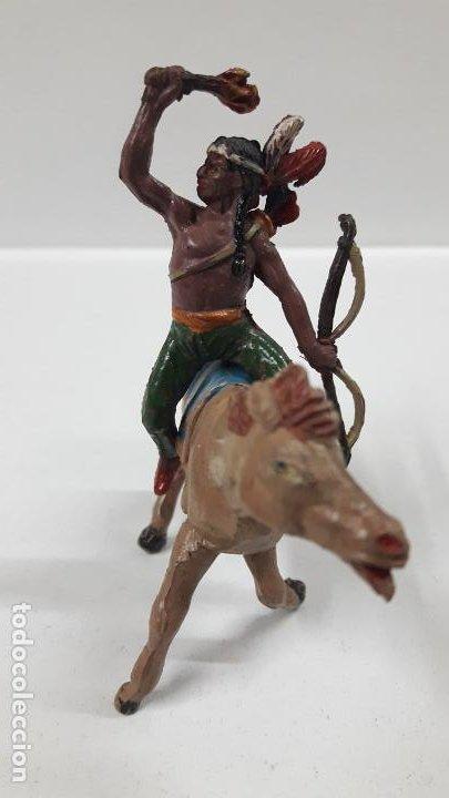 Figuras de Goma y PVC: GUERRERO INDIO PARA CABALLO . REALIZADO POR TEIXIDO . AÑOS 50 EN GOMA . CABALLO NO INCLUIDO - Foto 3 - 183696101