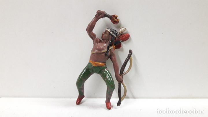 Figuras de Goma y PVC: GUERRERO INDIO PARA CABALLO . REALIZADO POR TEIXIDO . AÑOS 50 EN GOMA . CABALLO NO INCLUIDO - Foto 5 - 183696101