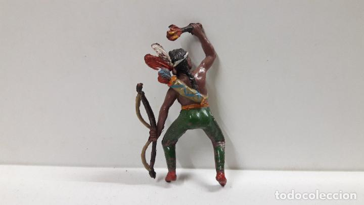 Figuras de Goma y PVC: GUERRERO INDIO PARA CABALLO . REALIZADO POR TEIXIDO . AÑOS 50 EN GOMA . CABALLO NO INCLUIDO - Foto 6 - 183696101