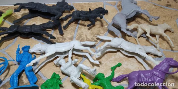 Figuras de Goma y PVC: LOTE MUÑECO OESTE INDIO PISTOLEROS COMANSI REAMSA, GOMARSA, PECH, LAFREDO, JECSAN FIGURAS - Foto 3 - 183785128