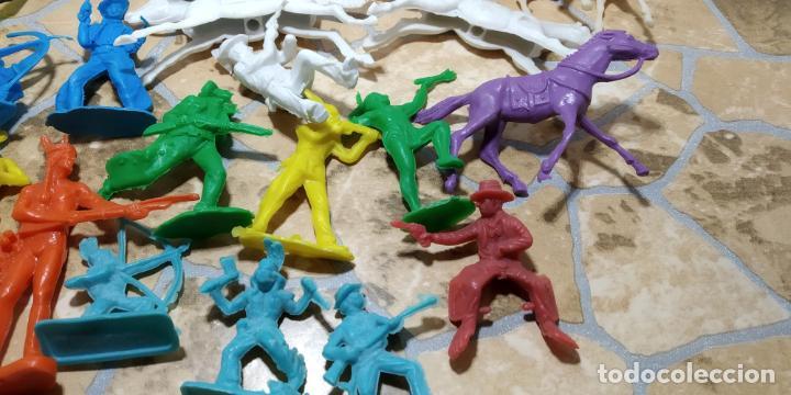 Figuras de Goma y PVC: LOTE MUÑECO OESTE INDIO PISTOLEROS COMANSI REAMSA, GOMARSA, PECH, LAFREDO, JECSAN FIGURAS - Foto 4 - 183785128