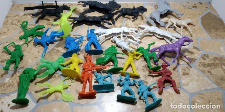 LOTE MUÑECO OESTE INDIO PISTOLEROS COMANSI REAMSA, GOMARSA, PECH, LAFREDO, JECSAN FIGURAS (Juguetes - Figuras de Goma y Pvc - Comansi y Novolinea)