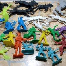 Figuras de Goma y PVC: LOTE MUÑECO OESTE INDIO PISTOLEROS COMANSI REAMSA, GOMARSA, PECH, LAFREDO, JECSAN FIGURAS. Lote 183785128