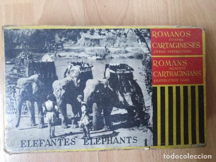 Figuras de Goma y PVC: Caja Cartagineses Roja y Malaret con elefantes. Original. Pech Jecsan. - Foto 4 - 254455230