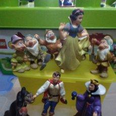 Figuras de Goma y PVC: LOTE DE 11 FIGURAS EN PVC DE LA SERIE DIBUJOS ANIMADOS BLANCANIEVES Y LOS 7 ENANITOS. BULLYLAND.. Lote 183826592
