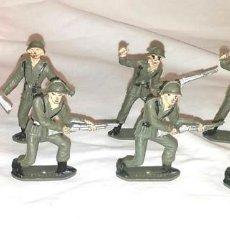 Figuras de Goma y PVC: EJERCITO ESPAÑOL 7 SOLDADOS DE COMANSI AÑOS 70. Lote 183833802