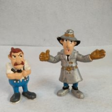 Figuras de Goma y PVC: 2 FIGURAS INSPECTOR GADGET Y COMISARIO. Lote 183905333