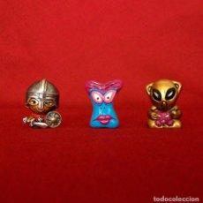 Figuras de Goma y PVC: 3 GOGOS. DUNKIN DE LUXE. POLÍCROMAS.. Lote 117542583
