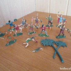 Figuras de Goma y PVC: EXCELENTE LOTE GUERRERO 13 AZTECAS ANTIGUOS ( REAMSA, PECH, JECSAN , TEIXIDO , COMANSI , ETC). Lote 184016987