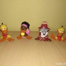 Figuras de Goma y PVC: LOTE 4 FIGURAS ALFRED J CUAK AÑO 1990 SCHLEICH PVC PATO . Lote 184103042