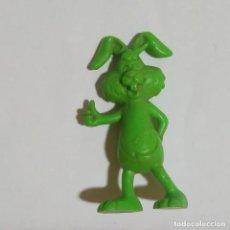 Figuras de Goma y PVC: DUNKIN FIGURA PLASTICO MINIATURA NESQUIK QUICKY CONEJO MUÑECO FIGURITA PROMO 90 DEPORTES. Lote 184170396