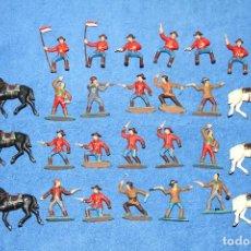 Figuras de Goma y PVC: POLICÍA MONTADA DE CANADÁ (REAMSA) - LOTE DE 27 FIGURAS EN MUY BUEN ESTADO. Lote 184245965