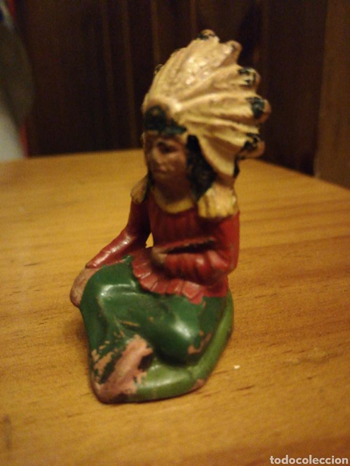 Figuras de Goma y PVC: Reamsa jefe indio sentado goma - Foto 4 - 184308848