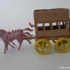Figuras de Goma y PVC: CARRETA TRANSPORTE MONTAPLEX ( 9 X 4 CM ) KIOSKO AÑOS 70 SIN USO. Lote 184361772