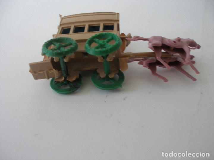 Figuras de Goma y PVC: Carreta transporte Montaplex (9 x 4 cm ) ) kiosko años 70 , Sin uso - Foto 4 - 55524973
