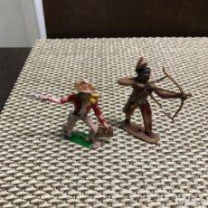 Figuras de Goma y PVC: INDIO Y VAQUERO COMANSI. Lote 184381788