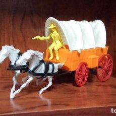 Figuras de Goma y PVC: CARAVANA OESTE COMANSI CON CONDUCTOR. Lote 184506583