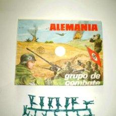 Figuras de Goma y PVC: MONTAPLEX SOBRE Nª 101 ALEMANIA VACIO + 1 COLADA DE SOLDADOS ALEMANES EN COLOR AZUL. Lote 227754806