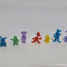 Figuras de Goma y PVC: DUNKIN.SIETE FIGURAS DE WALT DISNEY.TAMBOR,GOOFY,ENANITO,MINIE,SOBRINO DE DONALD.. Lote 184590478